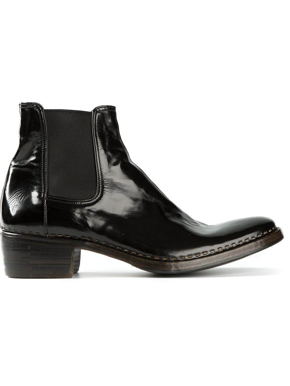 book of black patent chelsea boots womens in germany by