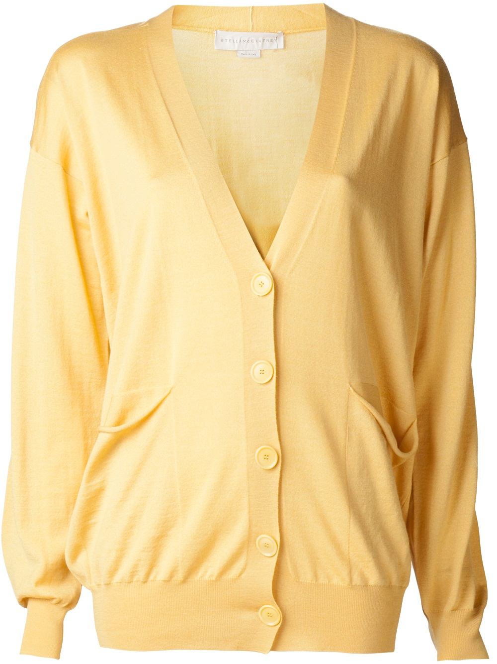Stella mccartney Button Down Cardigan in Orange | Lyst