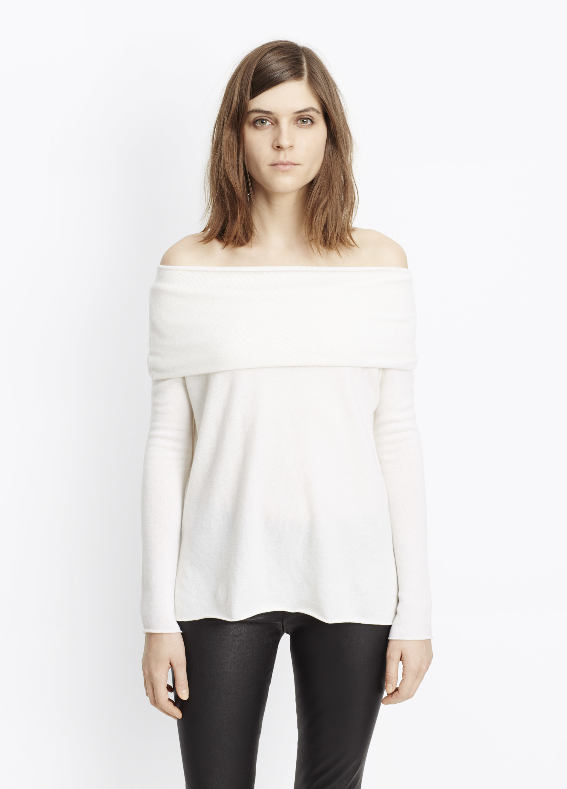 Lyst - Vince Cashmere Off-the-shoulder Relaxed Pullover ...