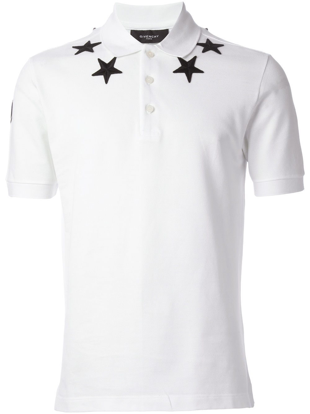 Lyst Givenchy Star Embroidered Polo Shirt In White For Men