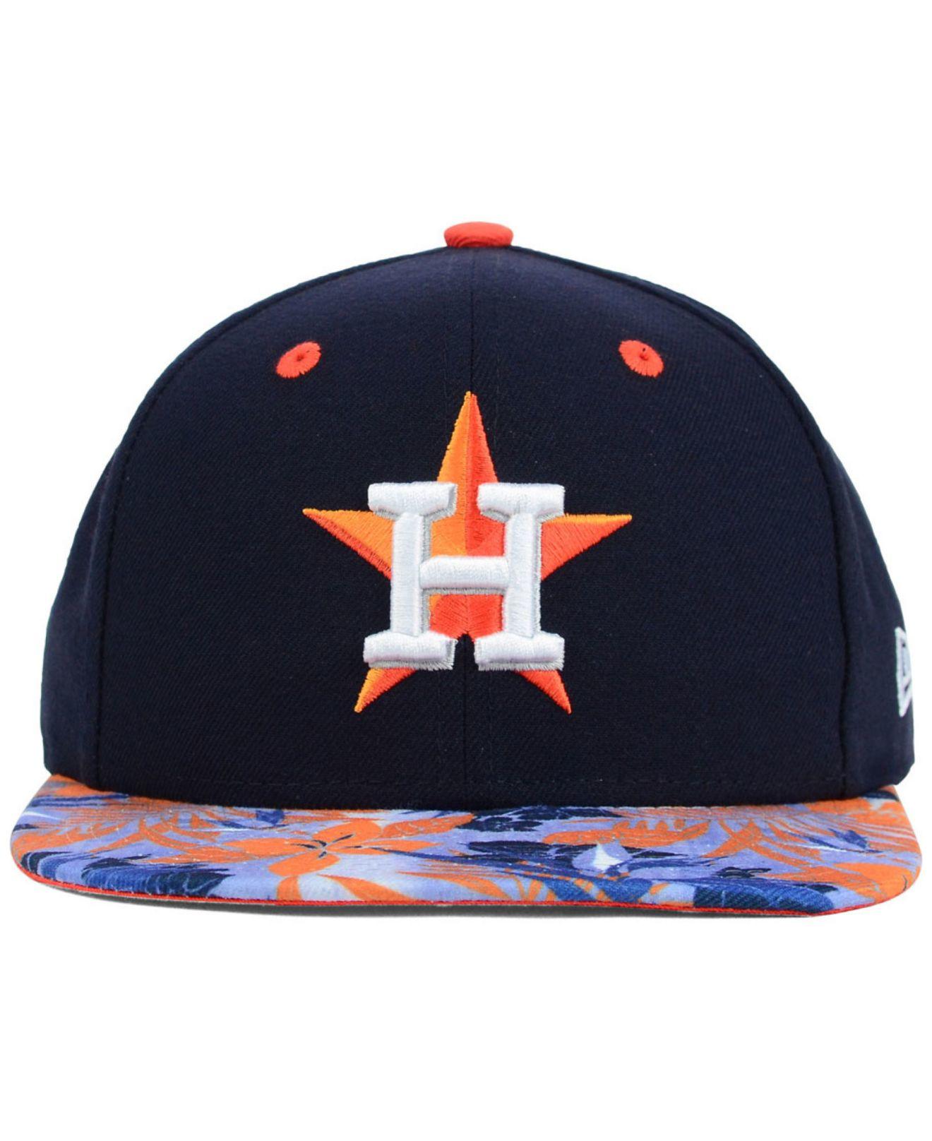 91c9c356708 Lyst - KTZ Houston Astros Floral Viz 9fifty Snapback Cap in Blue for Men