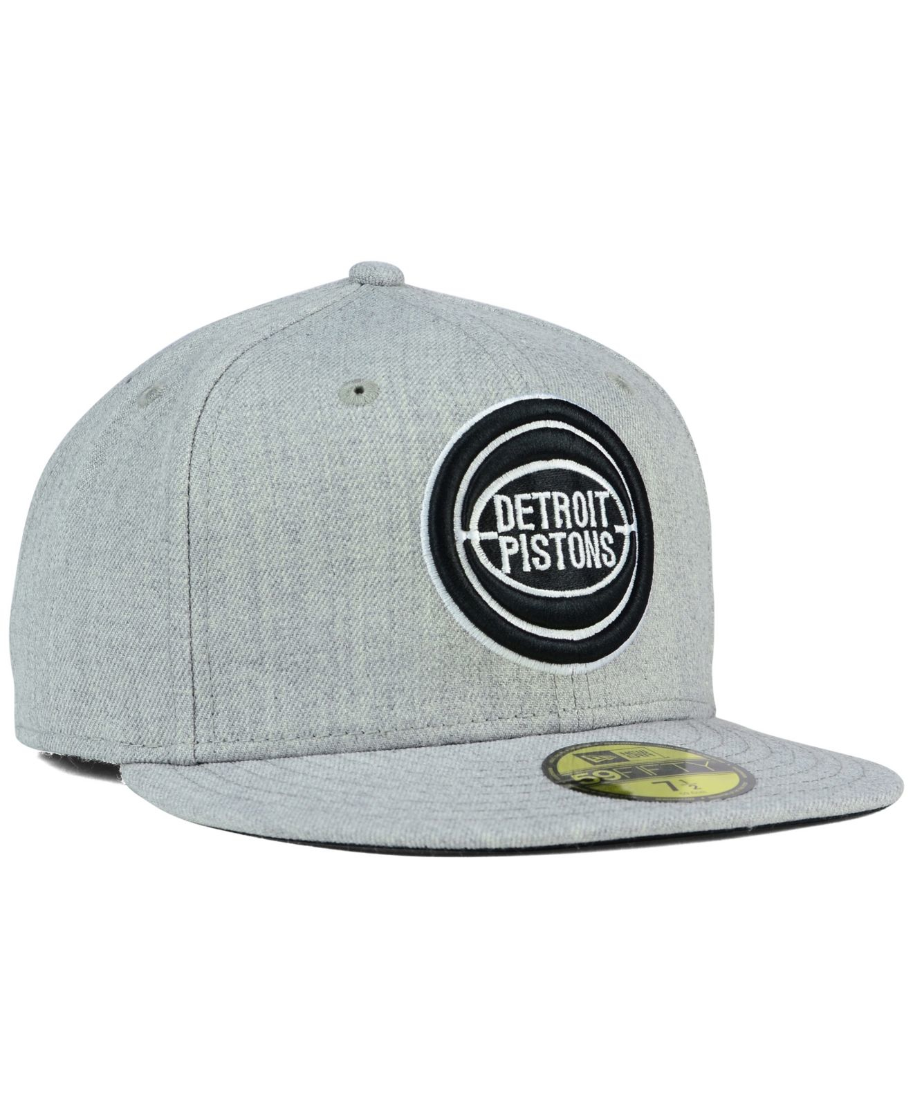 cheaper 7d90a 1c4b9 ... ireland lyst ktz detroit pistons heather black white 59fifty cap in  gray 63049 a9505