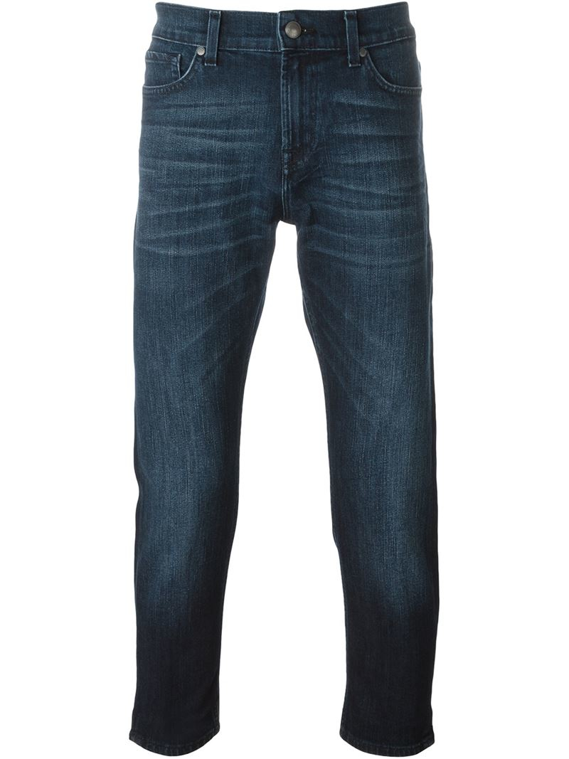 for all mankind 39 ronnie 39 jeans in blue for men save 41 lyst. Black Bedroom Furniture Sets. Home Design Ideas