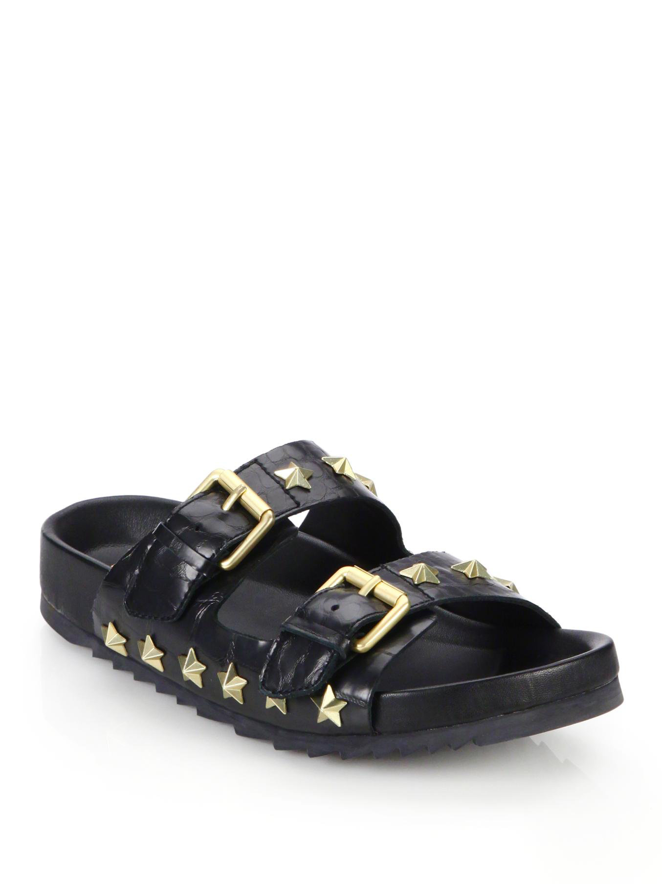Ash Studded slider sandals NHsAEEoN