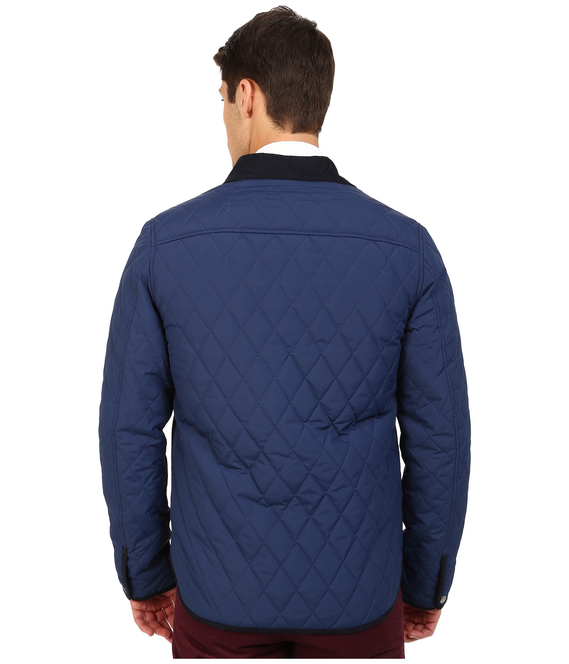 Original penguin Quilted Nylon Shirt Jacket in Blue for Men | Lyst : penguin quilted jacket - Adamdwight.com