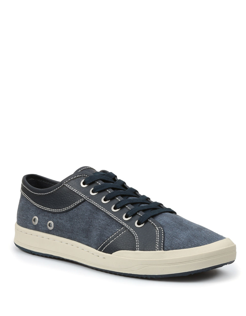 lyst gh bass amp co holton canvas sneakers in blue for men