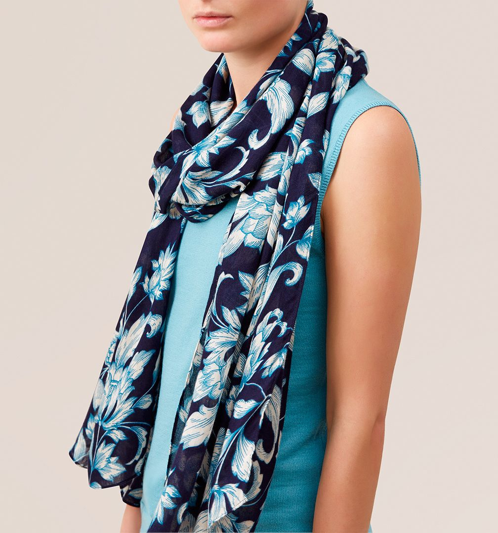 hobbs baroque scarf in blue lyst