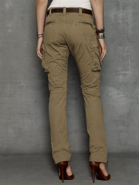 Rrl Skinny Cargo Pant In Green Lyst