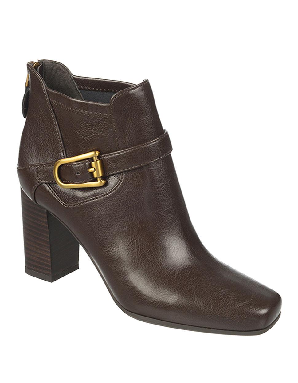 franco sarto zengo high heel boots in brown brown leather