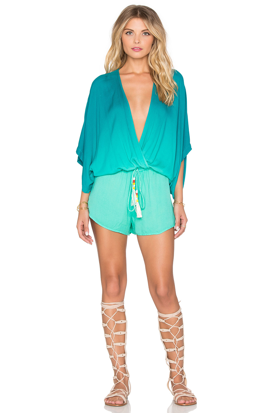 1a67adfb7a3 Lyst - Young Fabulous   Broke Ashley Romper in Green