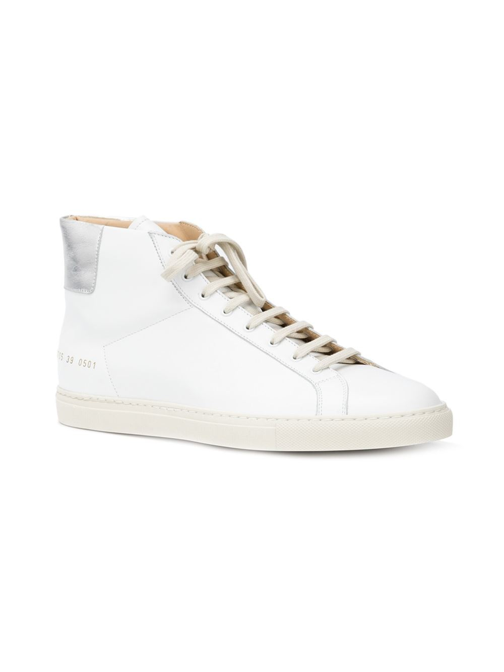 Lyst - Common Projects Achilles Retro Leather High-Top Sneakers in White