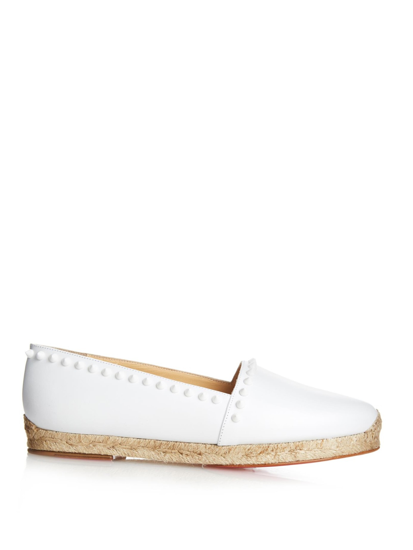 blue louboutins sneakers - Christian louboutin Ares Stud-Embellished Espadrilles in White | Lyst