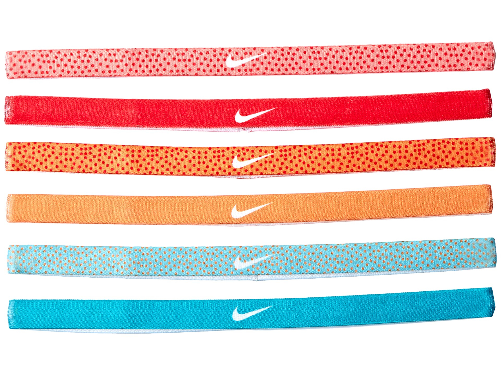 Lyst - Nike Printed Headbands Assorted 6-pack in Red db672d910ef