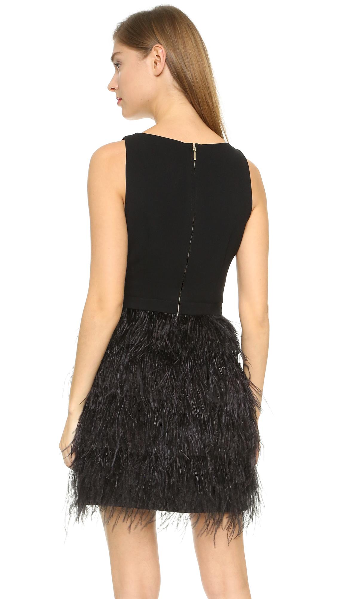 club monaco lenoria dress in black  lyst