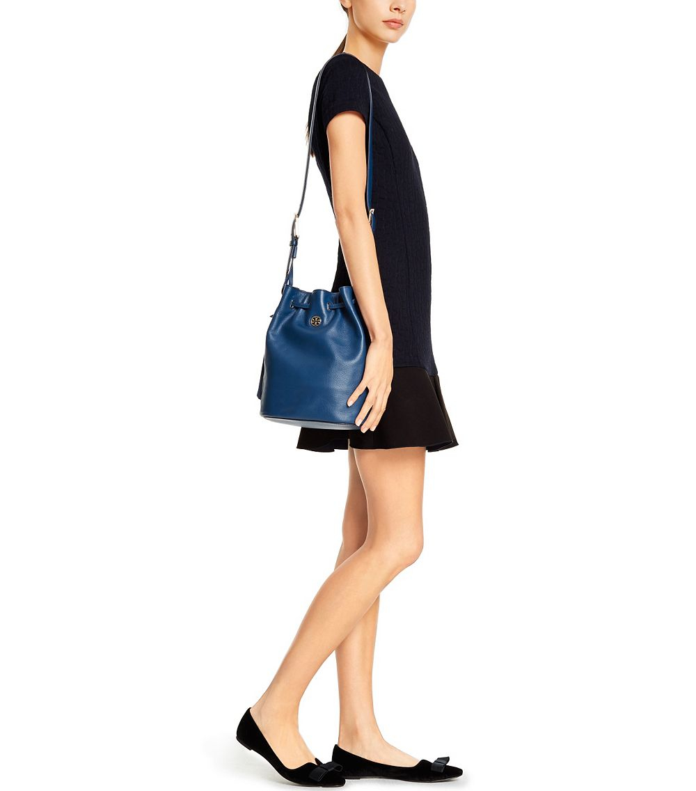 ad028e5bc997 ... uk lyst tory burch brody bucket bag in blue 12f89 11358