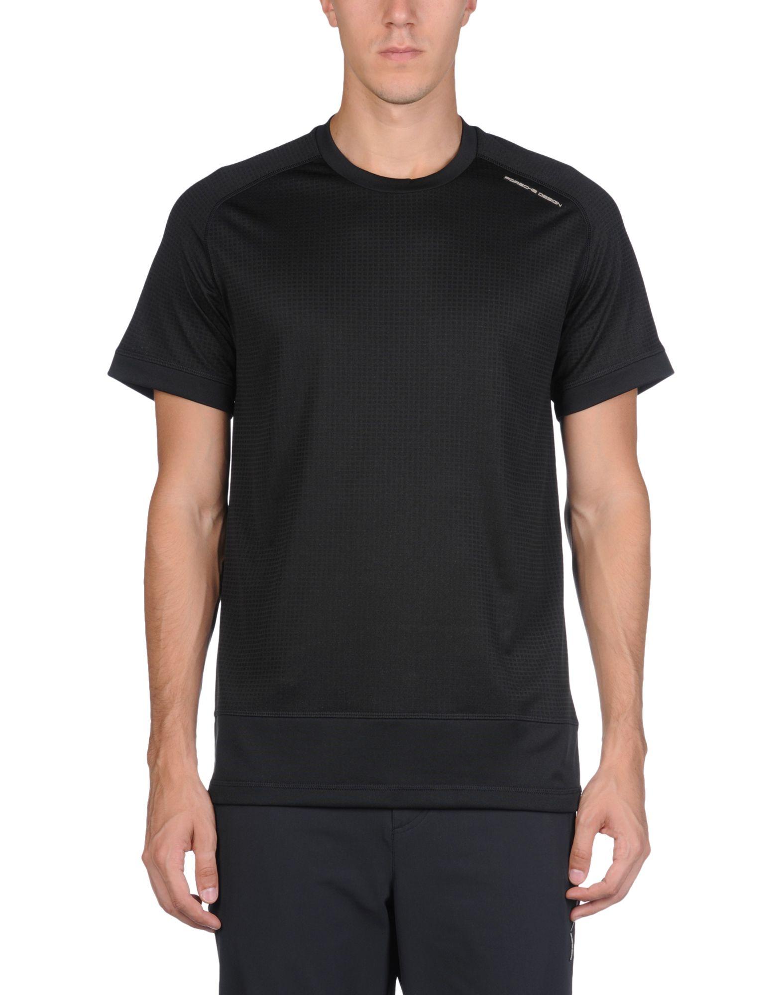 porsche design sport by adidas t shirt in black for men lyst. Black Bedroom Furniture Sets. Home Design Ideas