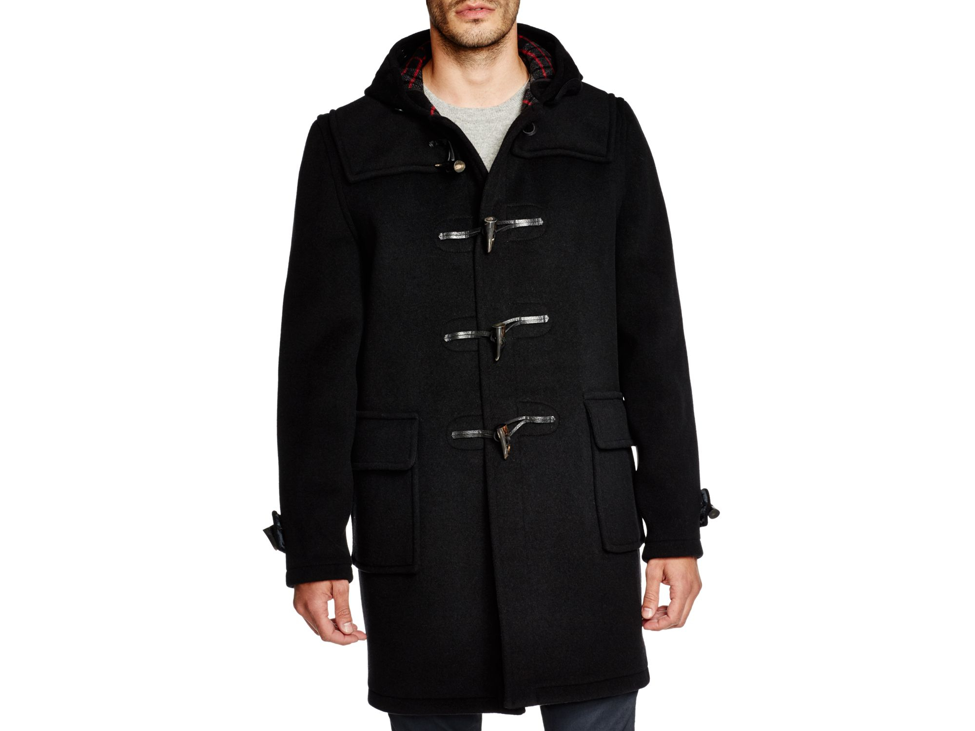 Gloverall Morris Duffle Coat in Black for Men | Lyst