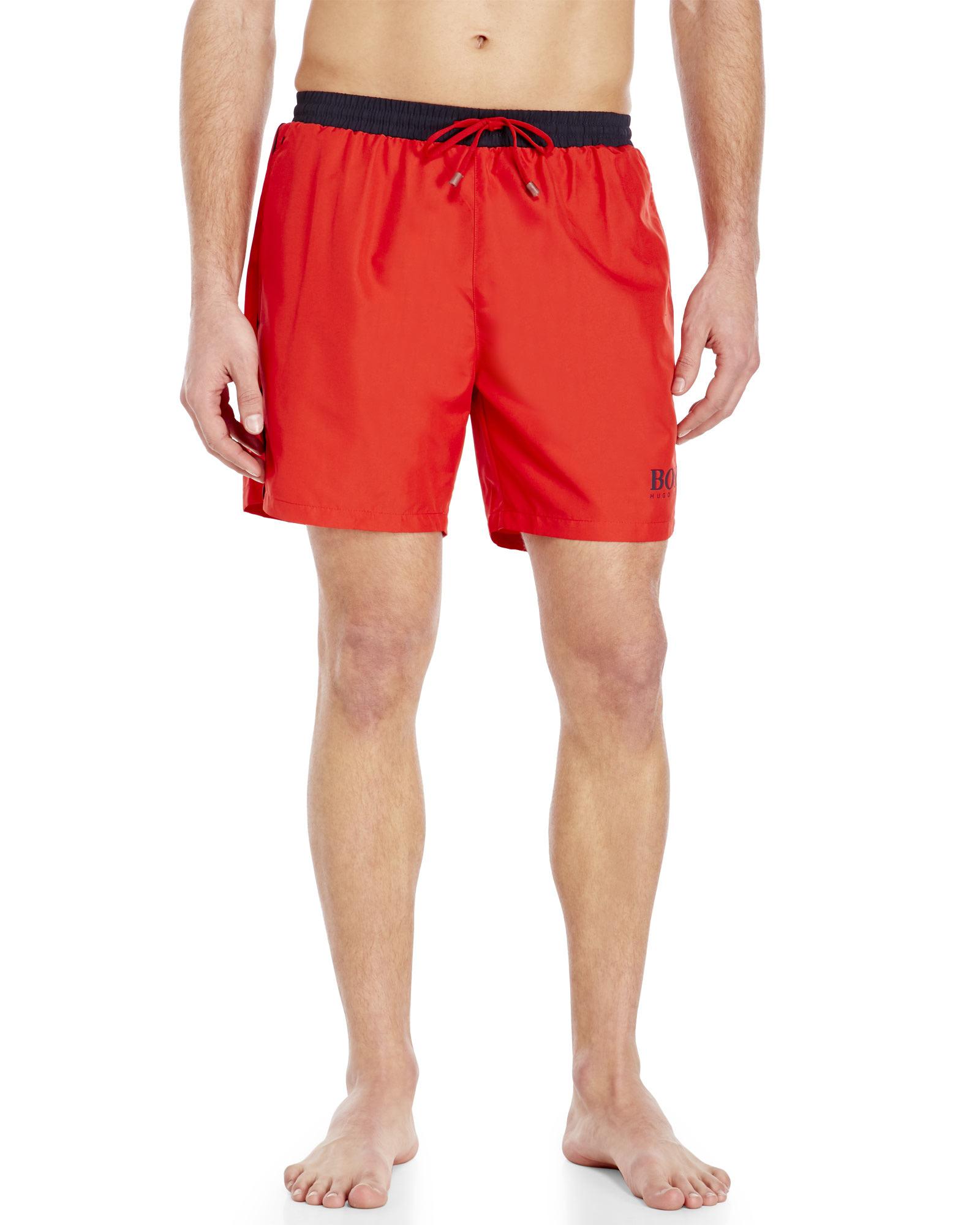 9d2603b2b Lyst - BOSS Starfish Swimming Shorts in Red for Men