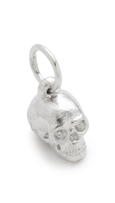 Helen Ficalora Skull Charm Silver In Metallic Lyst