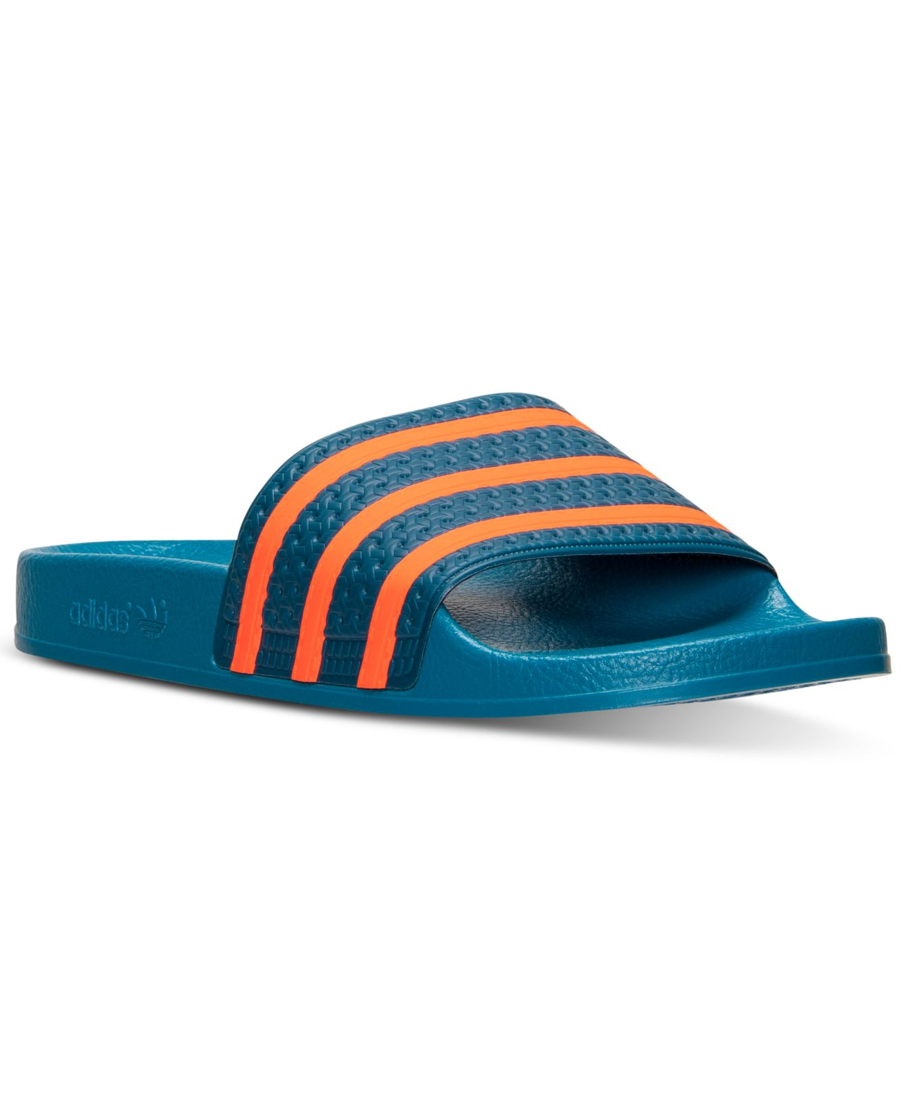 3a736d3a0975 Lyst - adidas Men S Adilette Slide Sandals From Finish Line in Blue ...