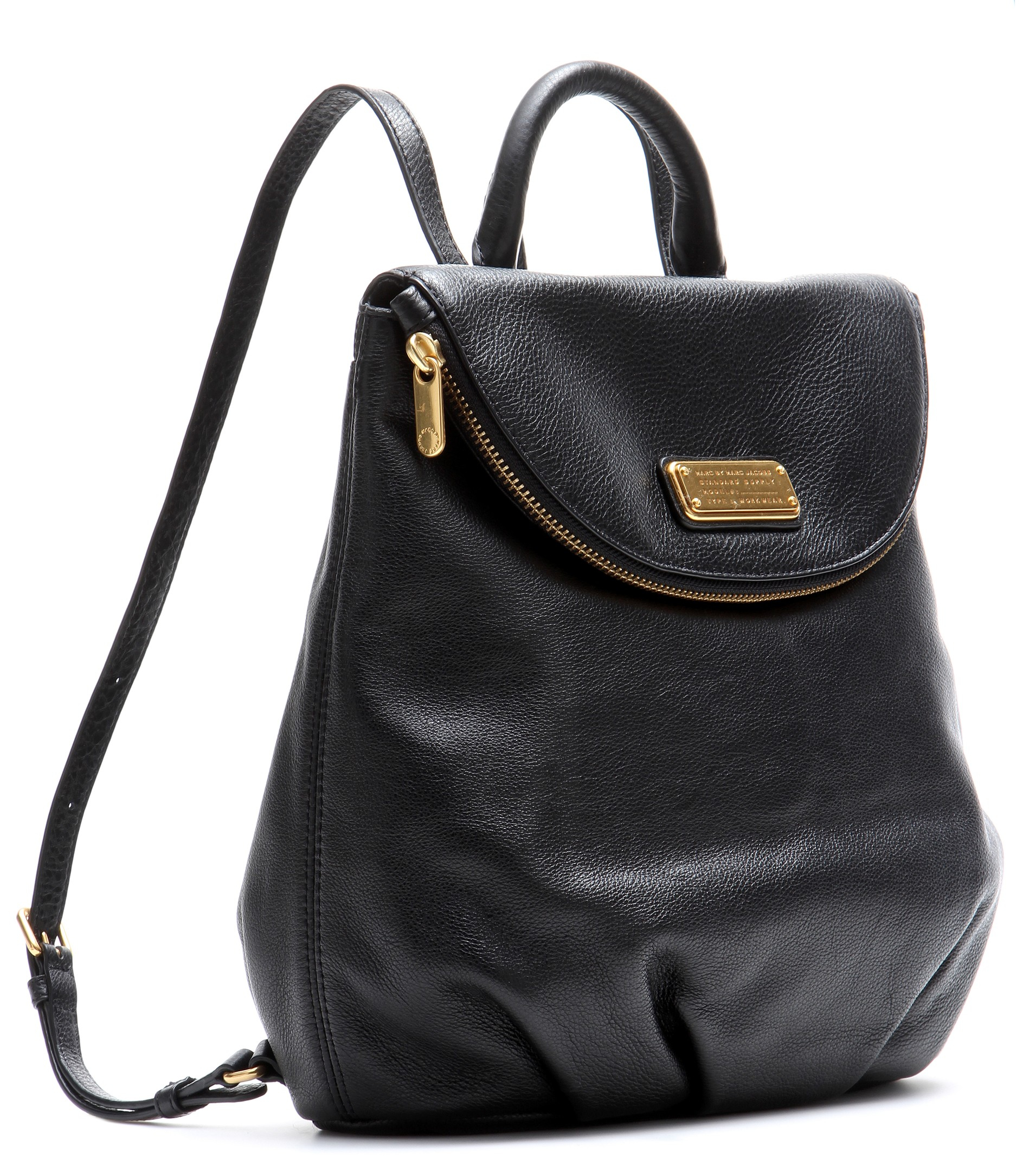 lyst marc by marc jacobs mariska leather backpack in black. Black Bedroom Furniture Sets. Home Design Ideas