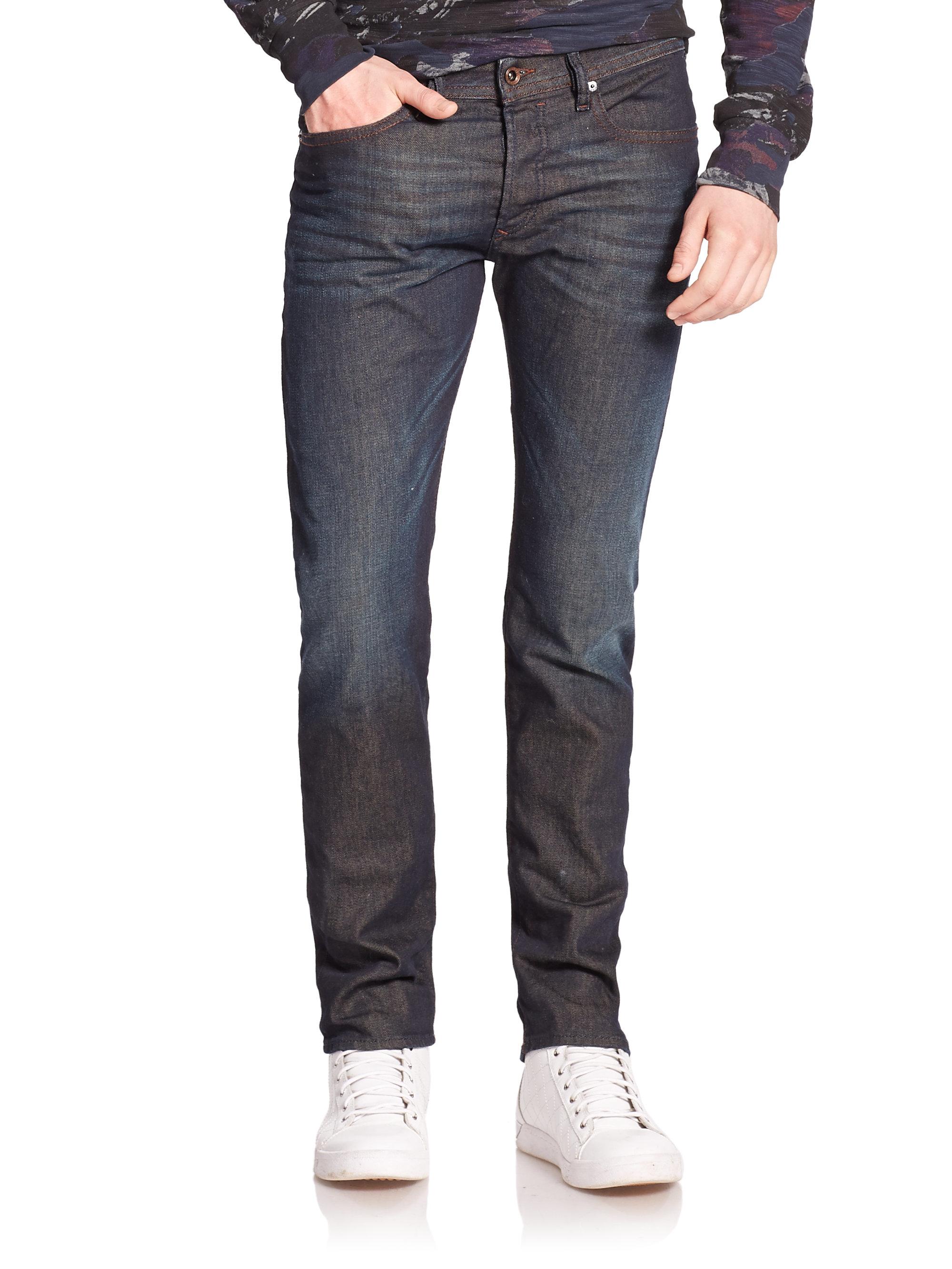 diesel buster tapered fit jeans in blue for men lyst. Black Bedroom Furniture Sets. Home Design Ideas