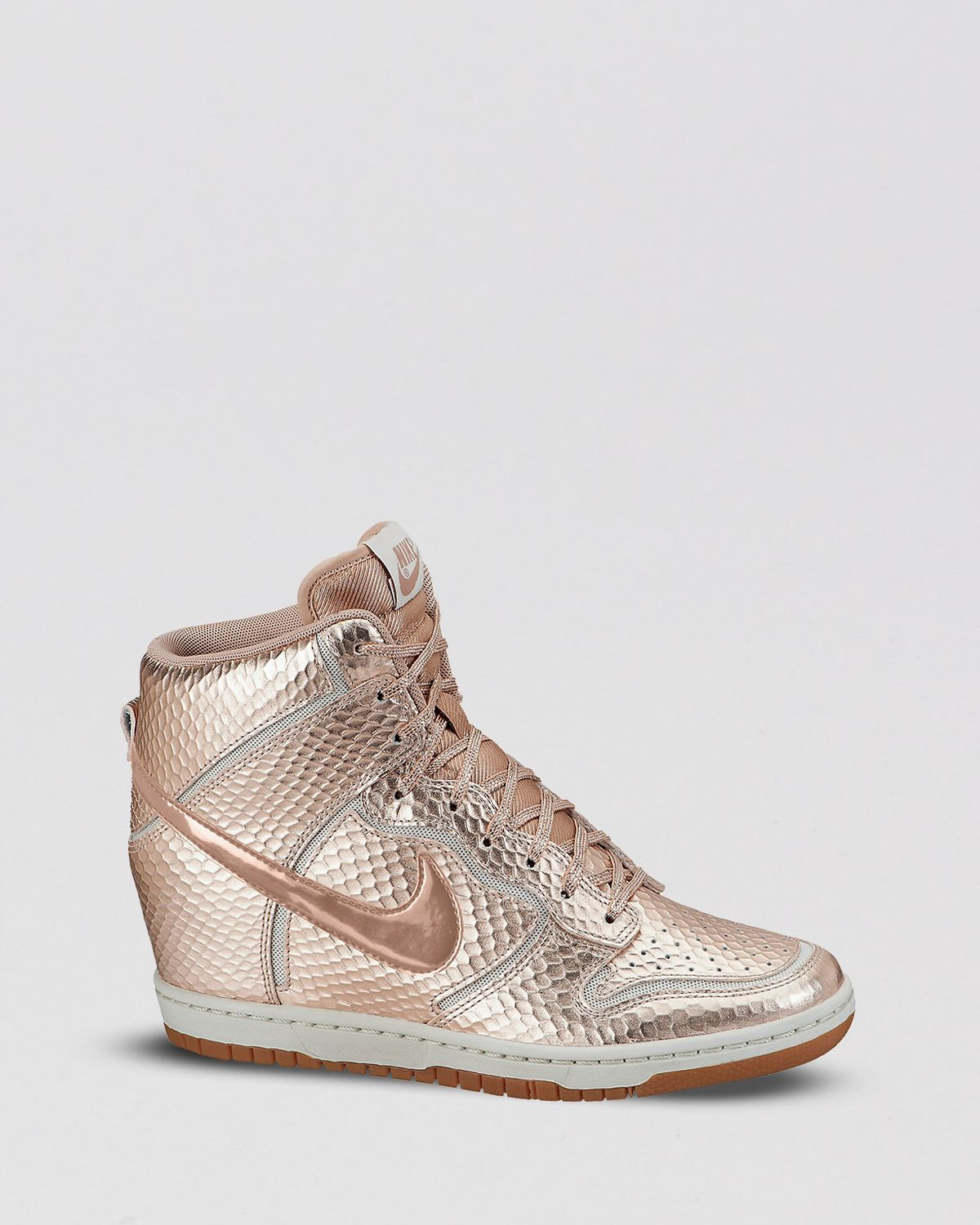 Lyst - Nike High Top Lace Up Wedge Sneakers Womens Dunk Sky Hi in ... e67f8bbd8