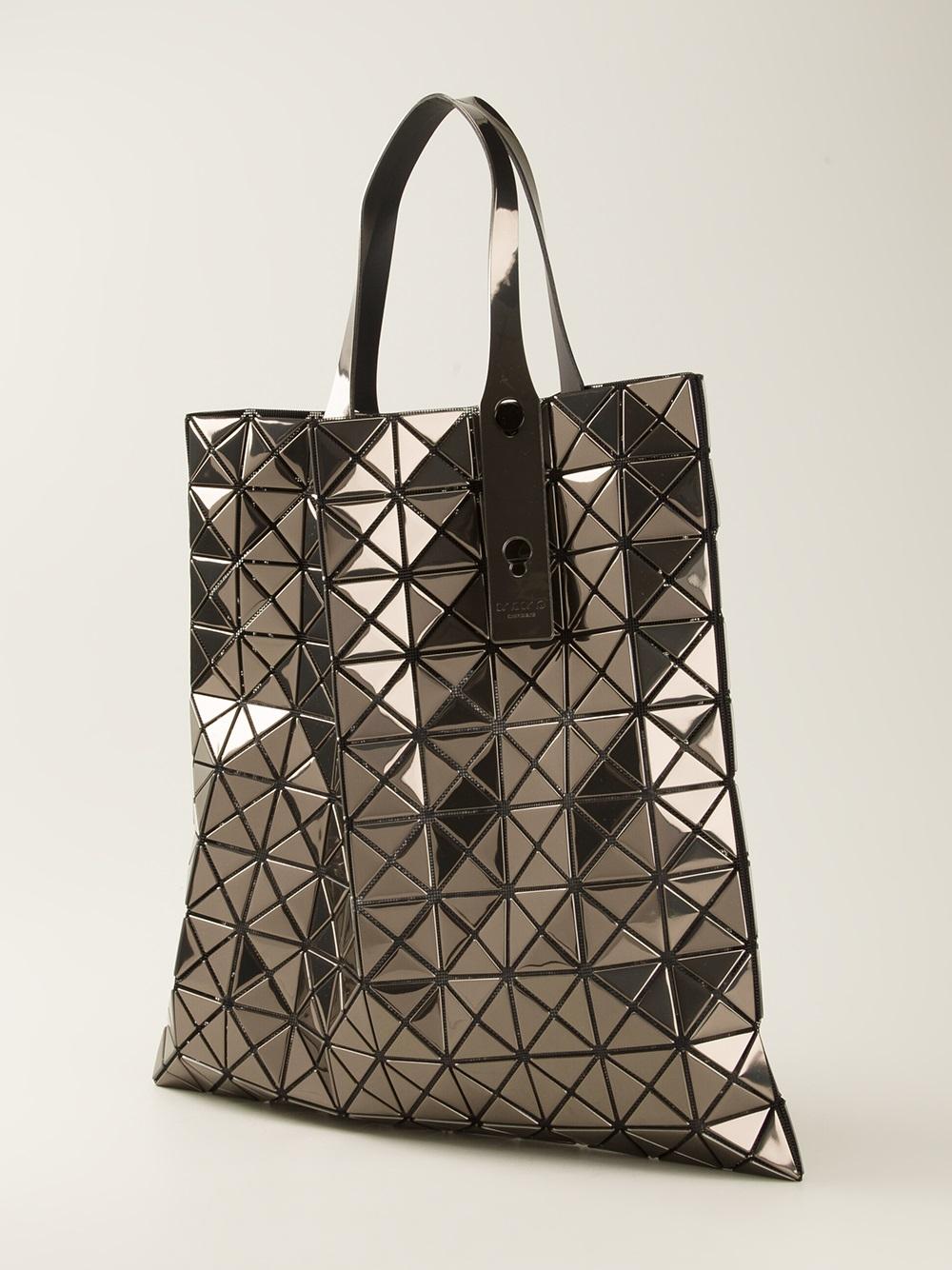 1106fd019875a Lyst - Bao Bao Issey Miyake Geometric Panel Tote Bag in Metallic