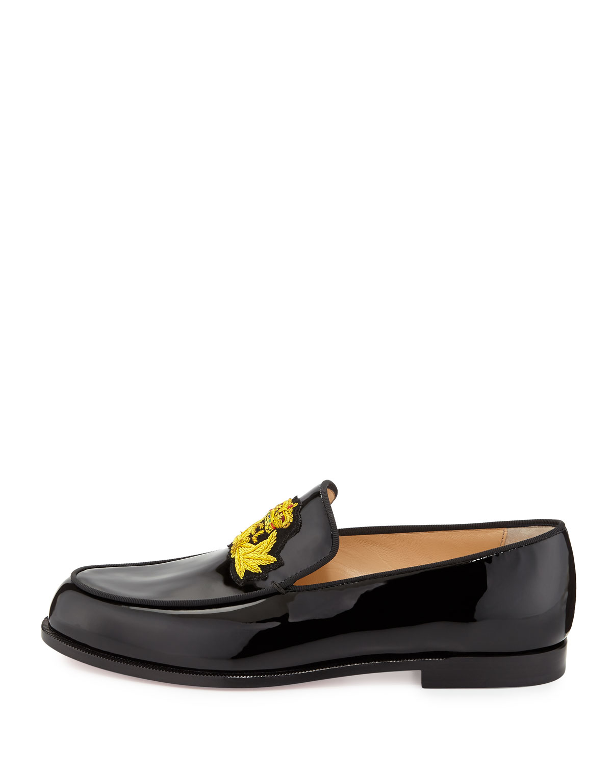 christian louboutin knock off - Christian louboutin Laperouza Patent Crest Loafer in Black for Men ...