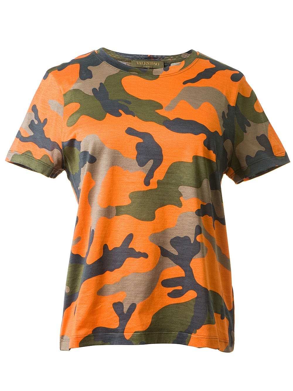 valentino camouflage print t shirt in orange lyst. Black Bedroom Furniture Sets. Home Design Ideas