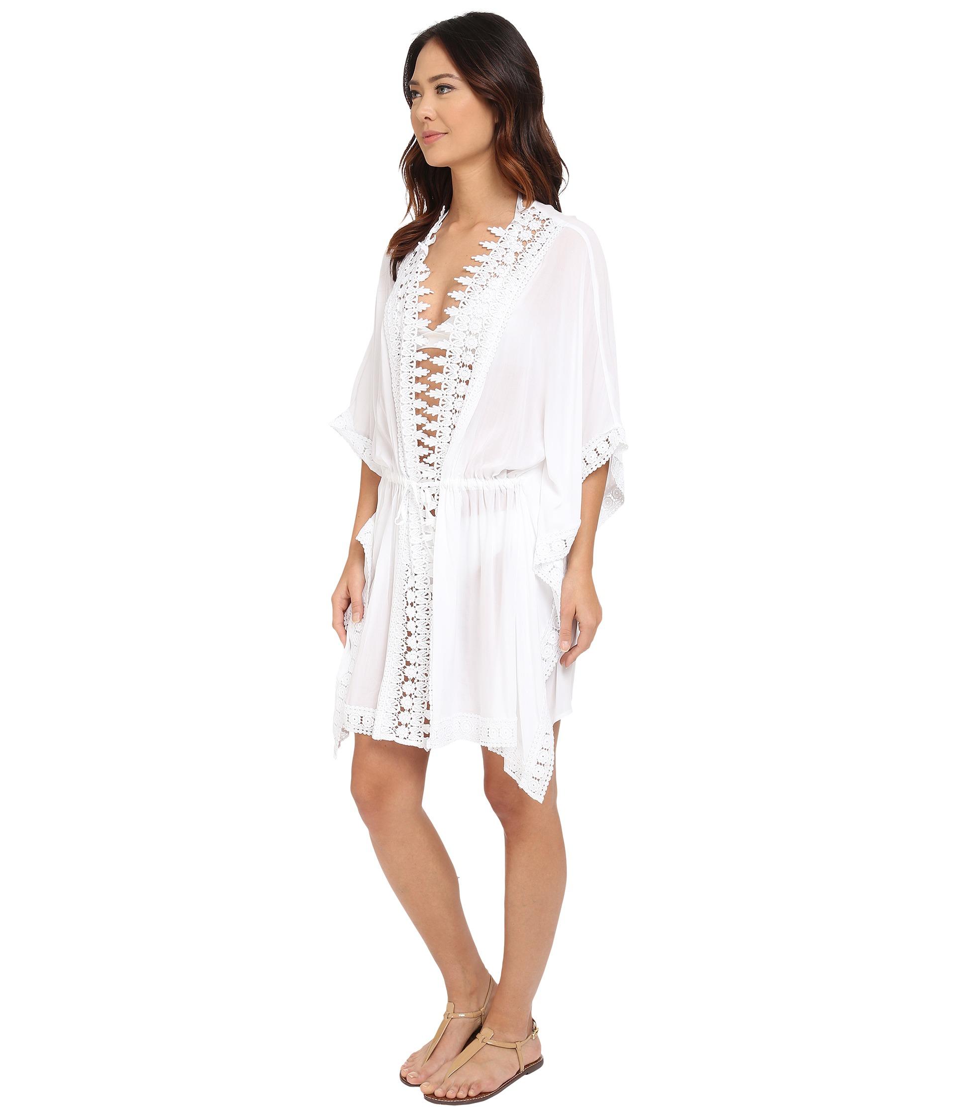 5f22f52ec0 La Blanca Plus Size Costa Brava Kimono Cover-up in White - Lyst