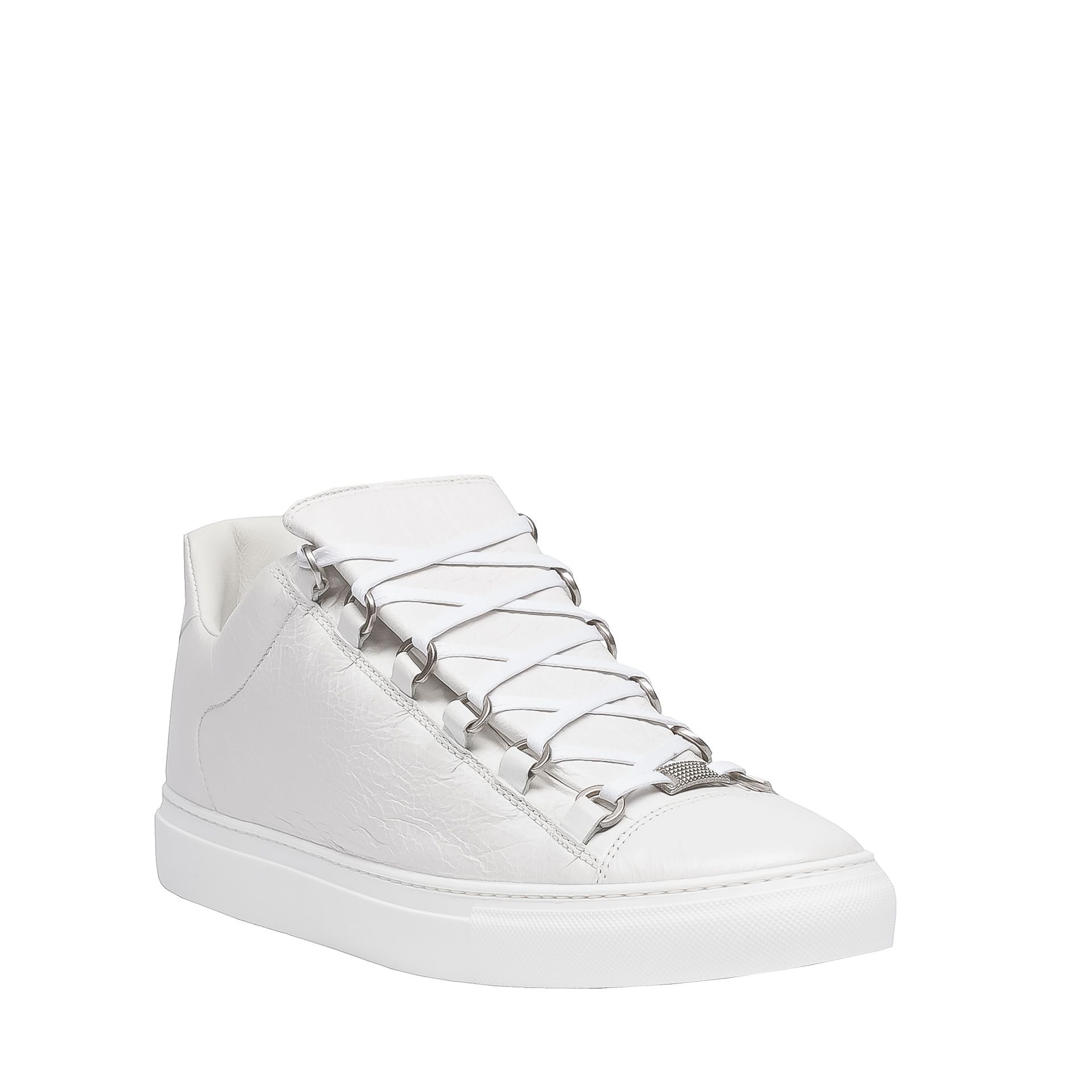Balenciaga Arena Low Sneakers In White For Men Extra