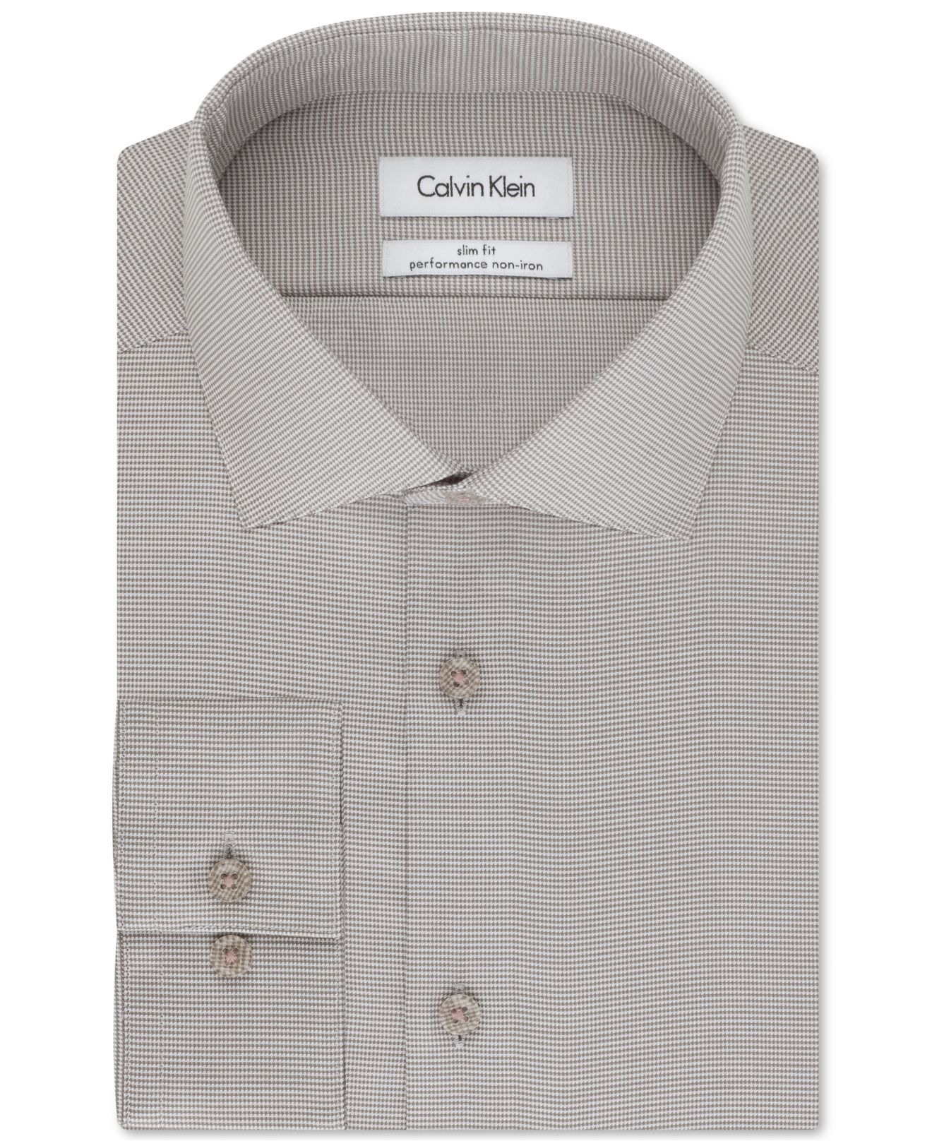 Calvin klein steel slim fit non iron performance for No iron slim fit dress shirts