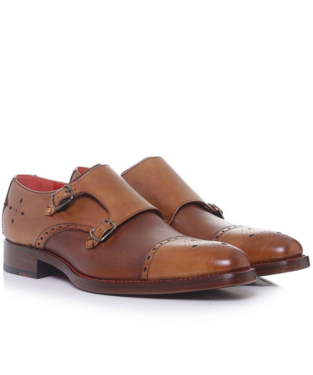 Lyst Jeffery West Dexter Harry Monk Strap Shoes In Brown