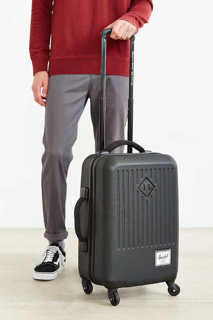 Herschel supply co. Trade Rolling Hard Shell Suitcase in Black for ...
