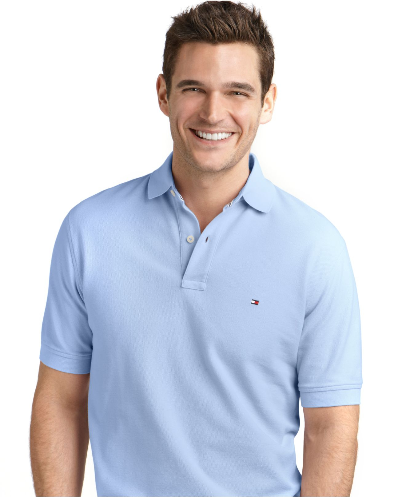 tommy hilfiger classic fit ivy polo in blue for men covington blue lyst. Black Bedroom Furniture Sets. Home Design Ideas