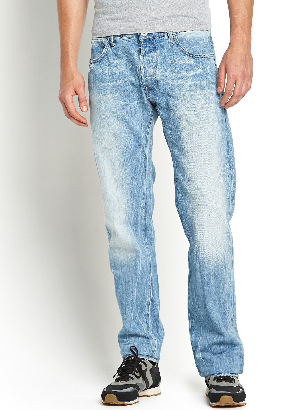 g star raw mens low tapered jeans in blue for men light aged lyst. Black Bedroom Furniture Sets. Home Design Ideas