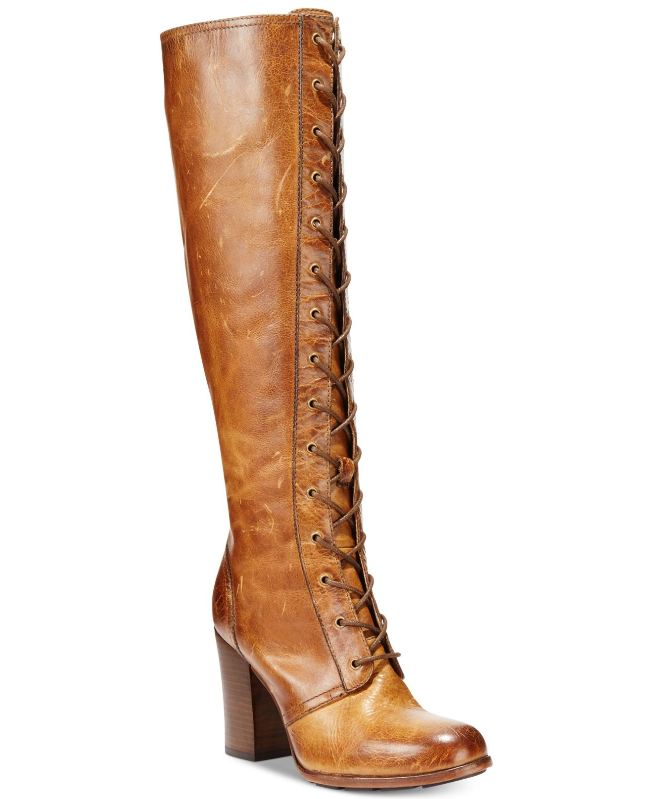 Frye Women'S Parker Tall Laceup Dress Boot in Brown   Lyst
