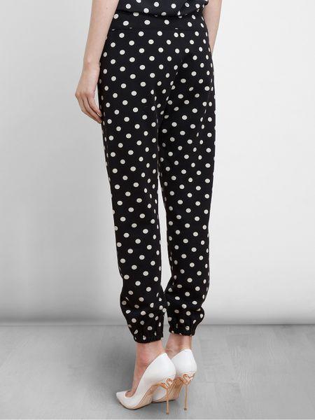 3.1 Phillip Lim Polka Dot Cotton Sweat Pants in Black   Lyst