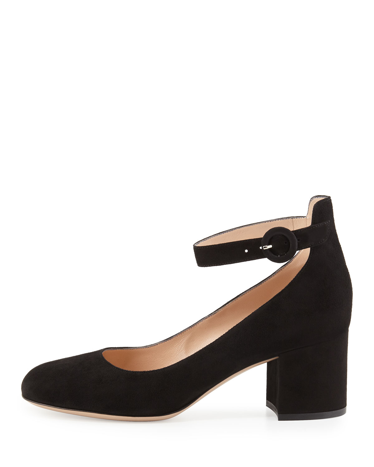 free shipping nicekicks supply for sale Gianvito Rossi block heel ankle strap pumps cZB6x