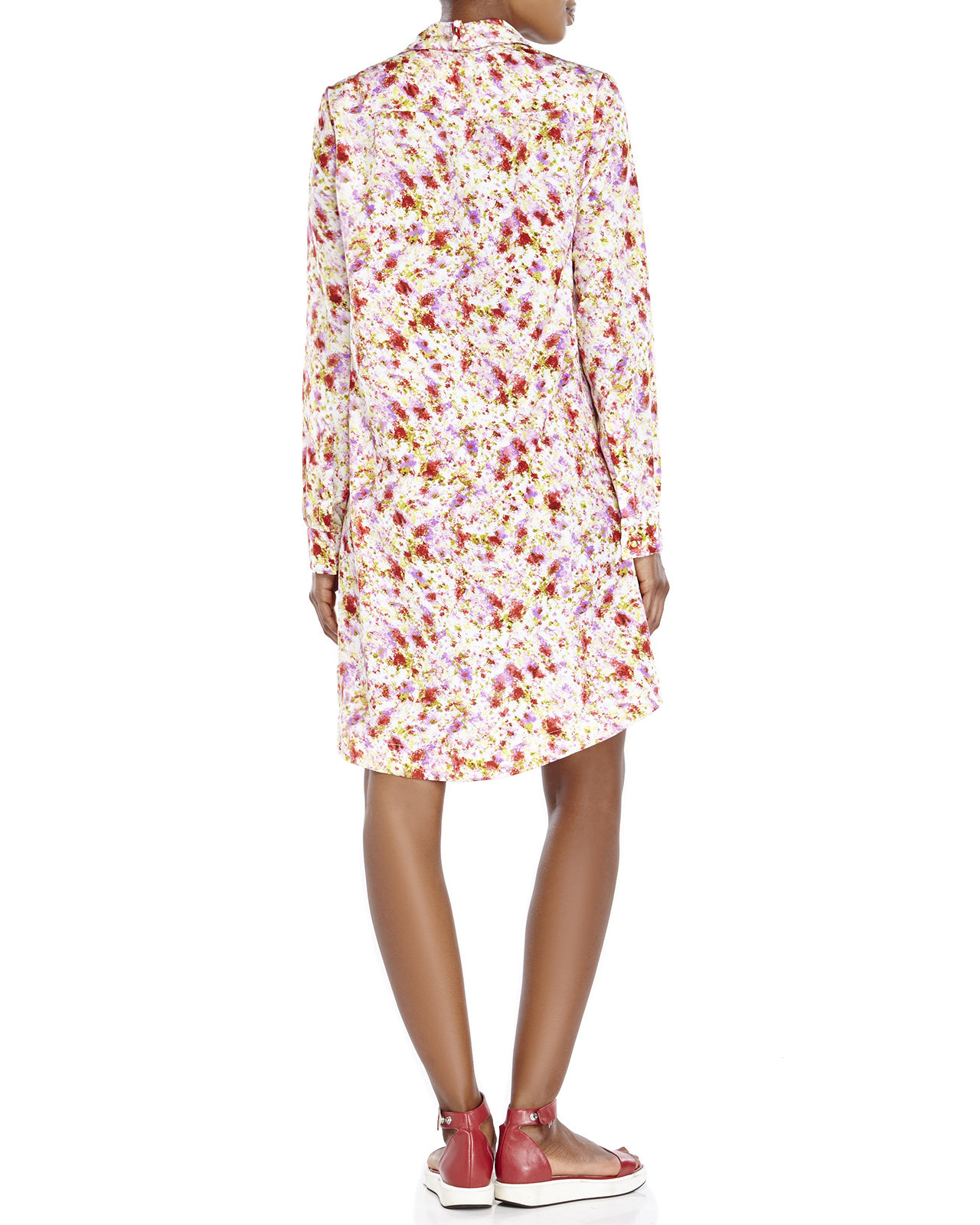 Lyst Philosophy Floral Print Babydoll Shirtdress In Pink