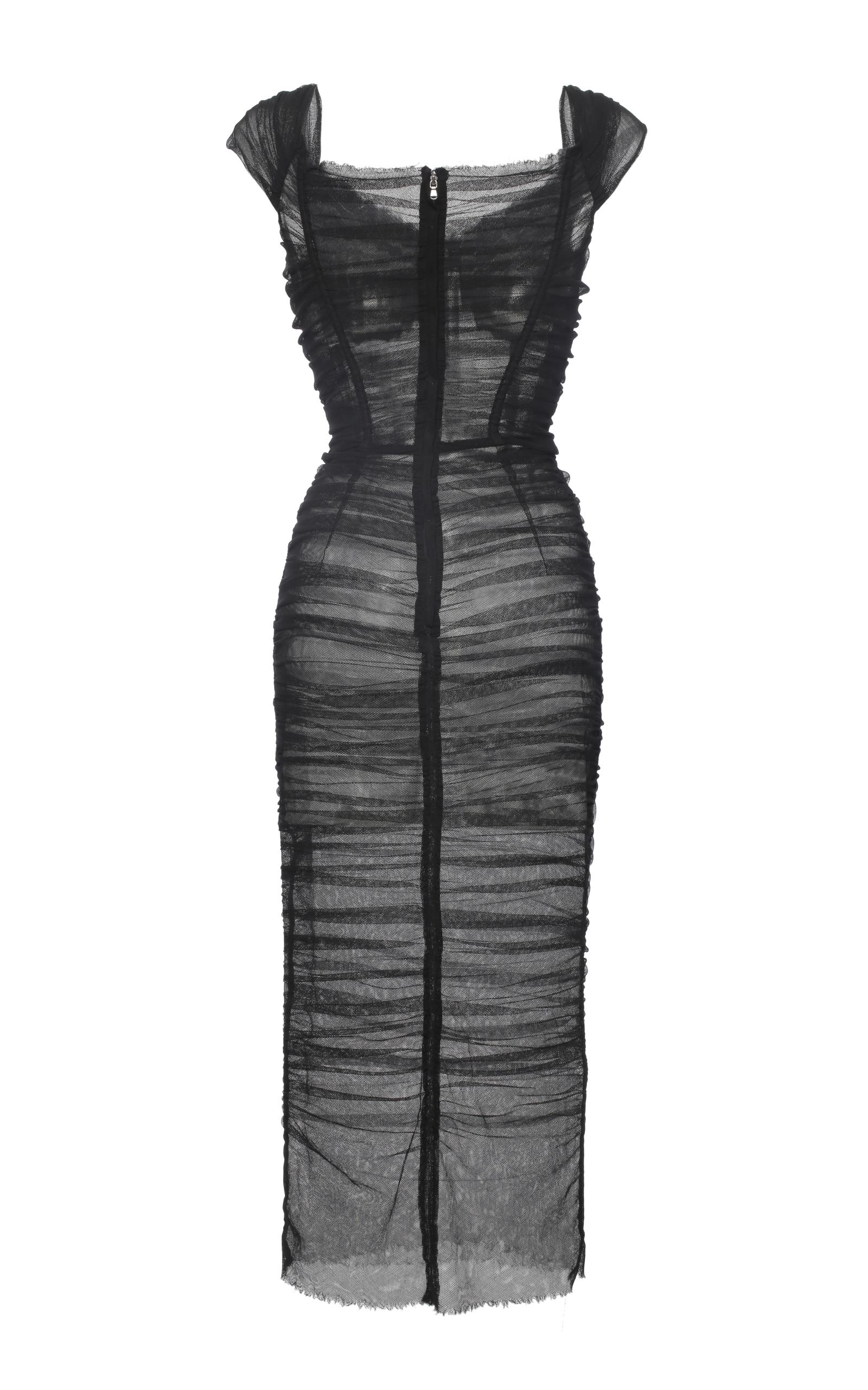 Black Stretch Tulle Bustier Dress Dolce amp  Gabbana Sale Deals High ... b5c551655d