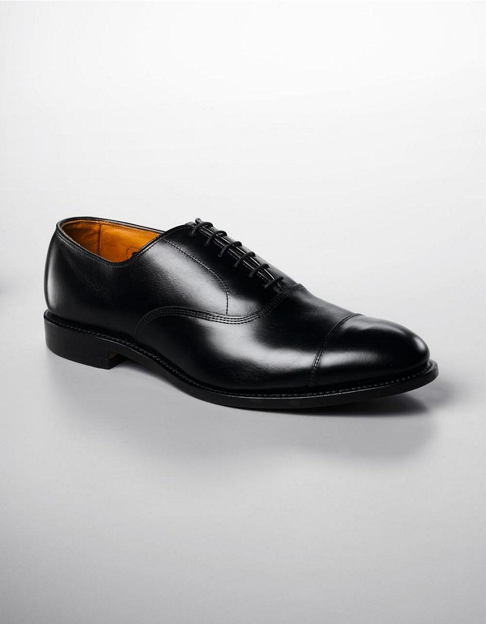 Allen Edmonds Park Avenue Cap Toe Oxfords In Black For Men