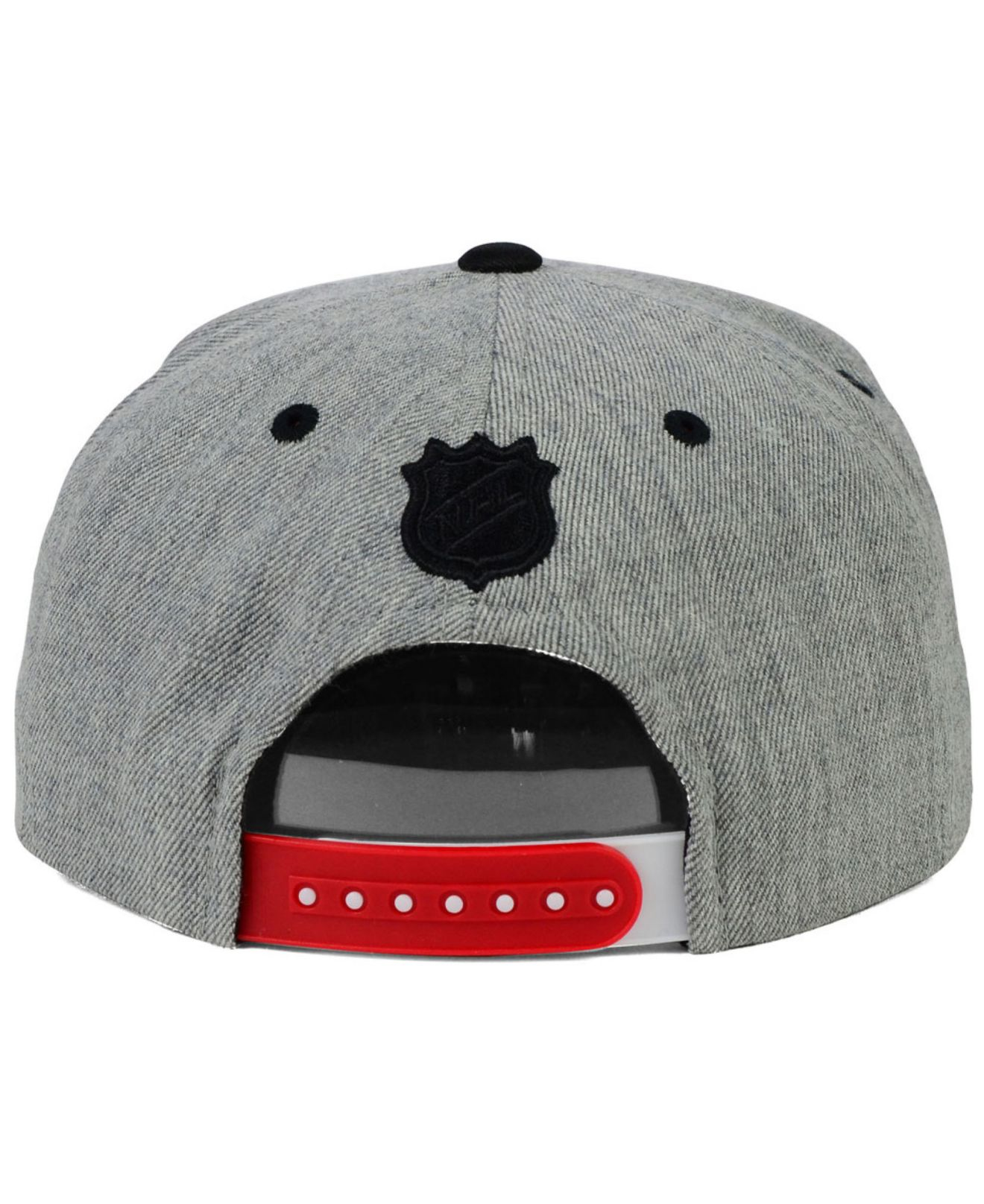 1d9498e0c13 Lyst - Reebok Detroit Red Wings Bully 2-Tone Snapback Cap in Gray ...