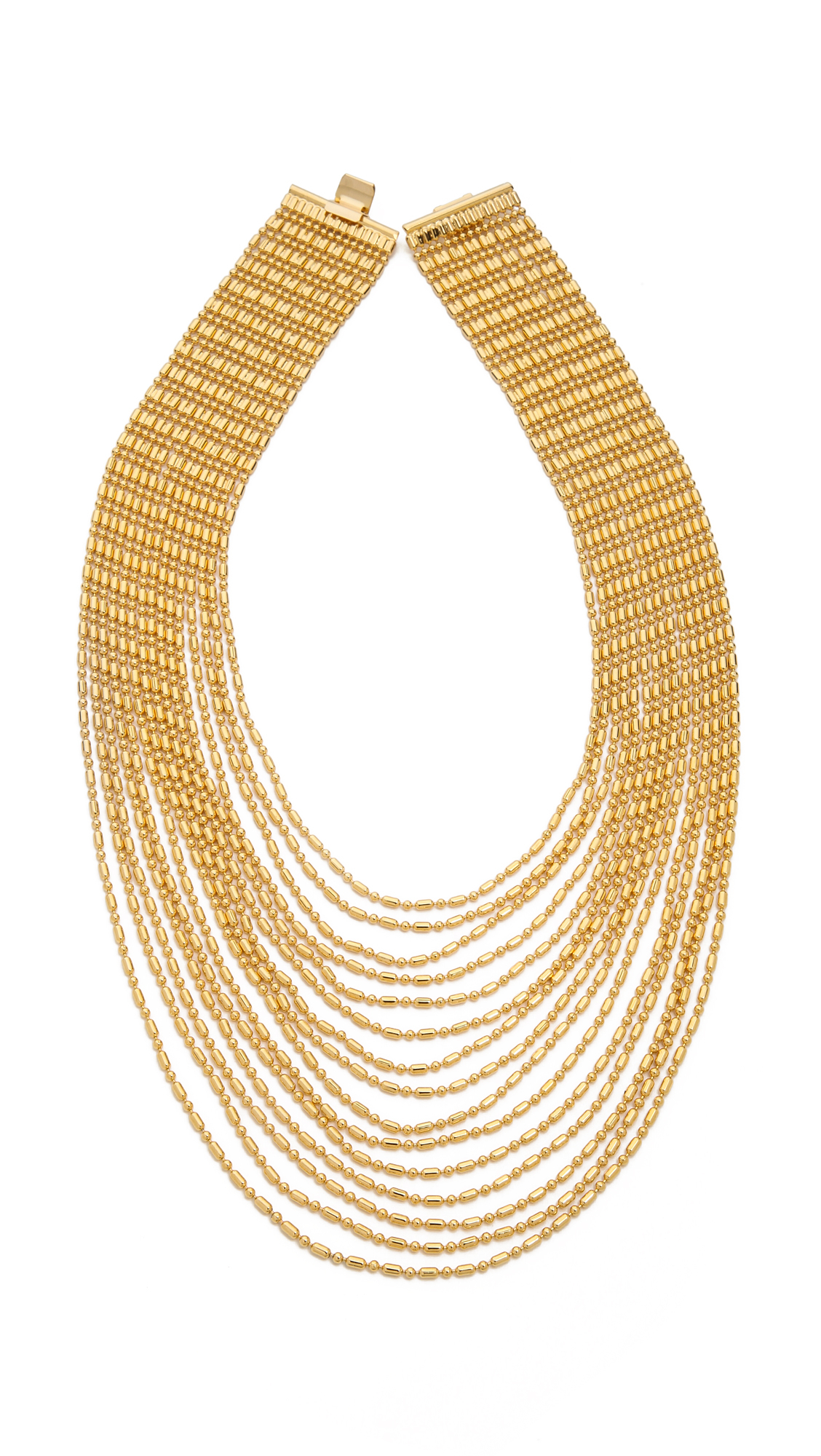 Auden Leighton Layered Chain Collar Necklace zLYgwwlZ