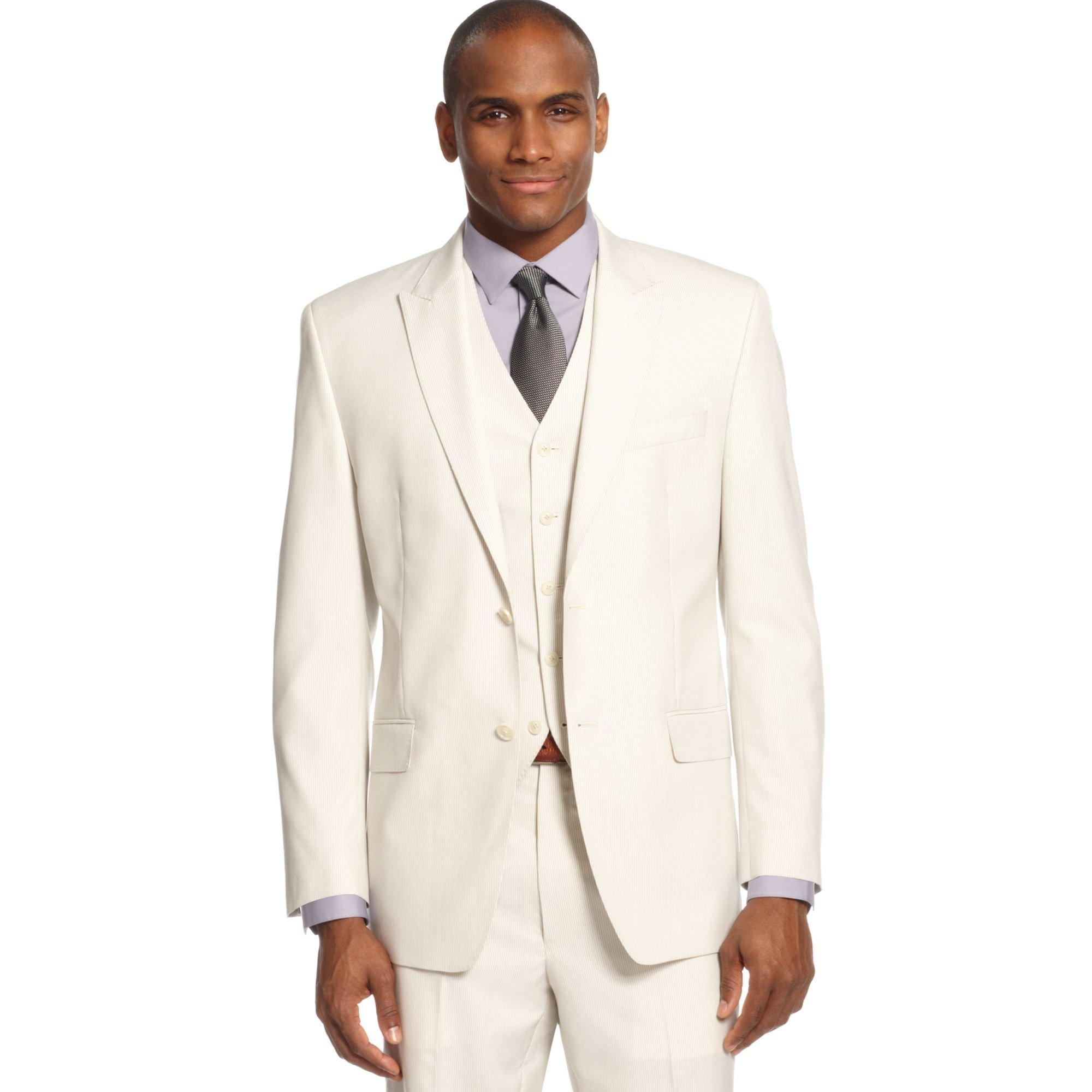 Sean John Jacket Cream Stripe in Beige for Men (Cream) | Lyst