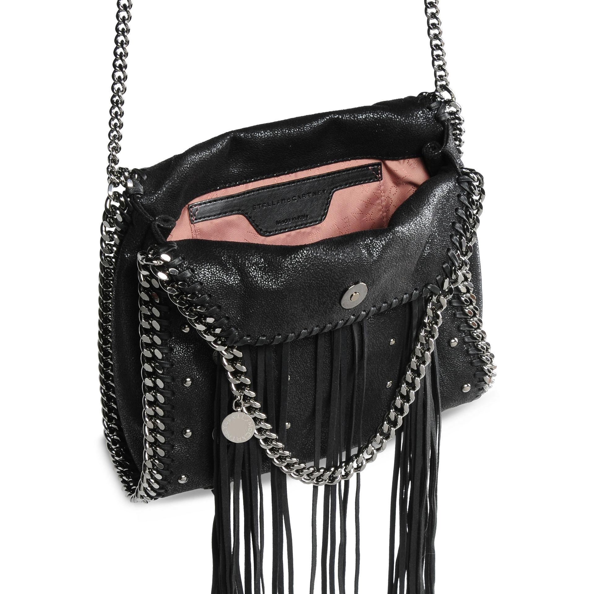 64caa24649f Lyst - Stella McCartney Falabella Shaggy Deer Biker Mini Tote in Black