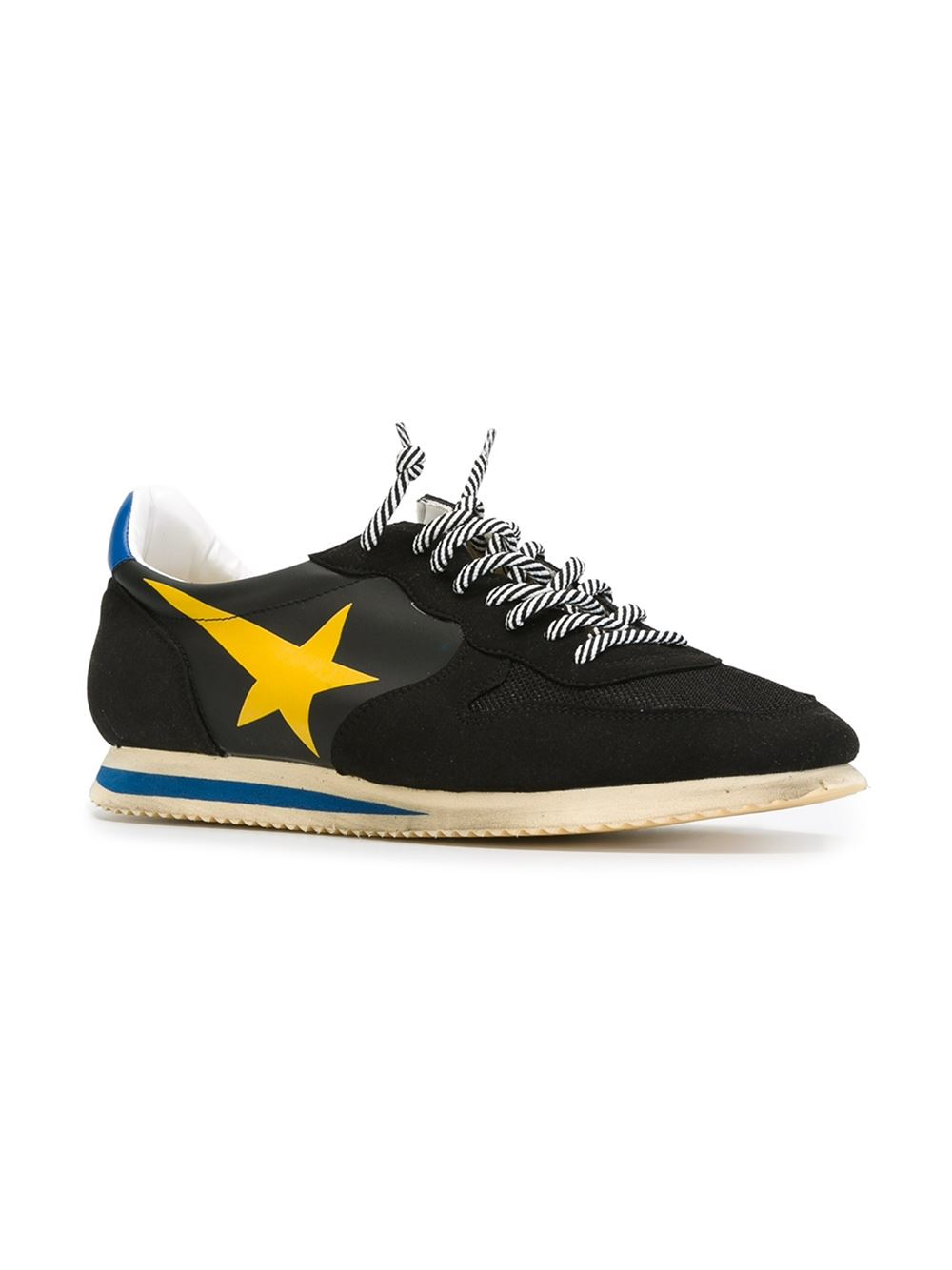 golden goose deluxe brand 39 haus 39 sneakers in yellow for men black lyst. Black Bedroom Furniture Sets. Home Design Ideas