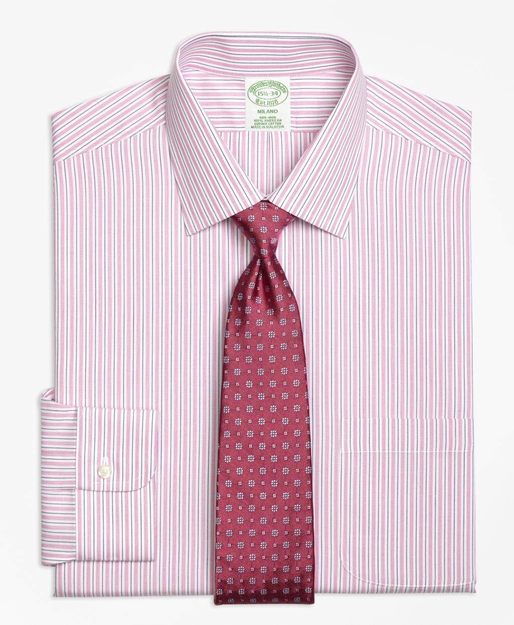 Brooks brothers non iron milano fit split stripe dress for Brooks brothers non iron shirts review