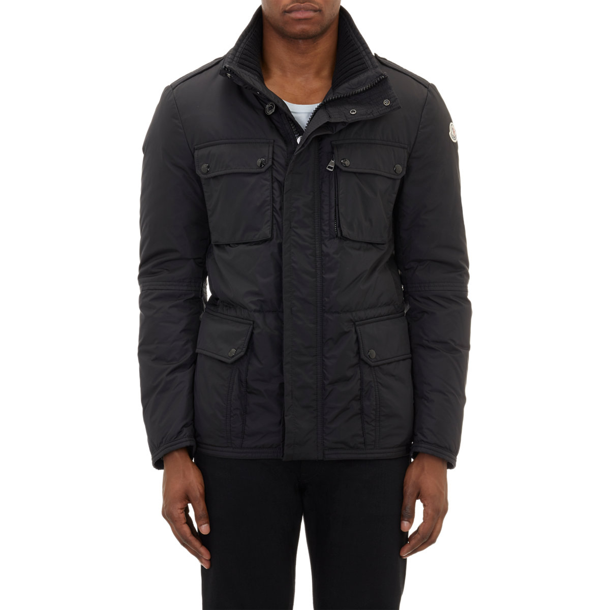 Moncler Quilted Puffer Jacket In Black For Men Lyst